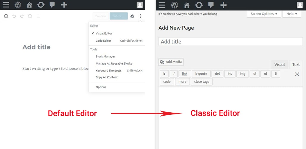 Topics 02 WordPress - How to change WordPress default editor to WordPress classic editor