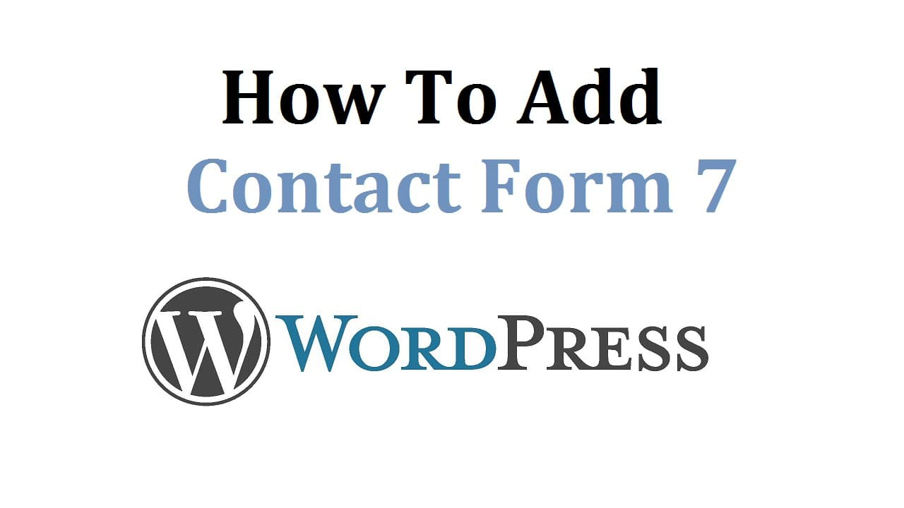 Topic 03 WordPress- Add Contact Form 7.